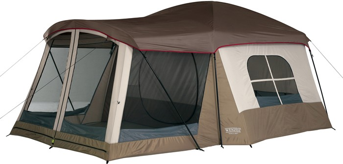 tent with a porch